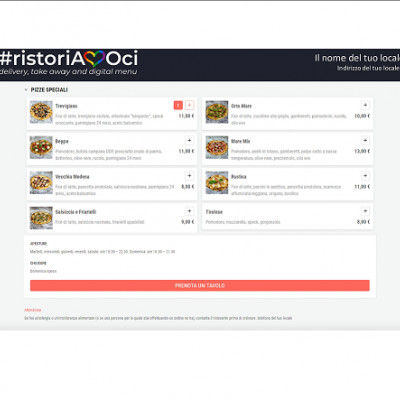 """RistoriAMOci"", la web-app per menu digitali, delivery e take away"