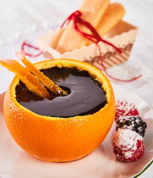 Arancia ripiena di cioccolato