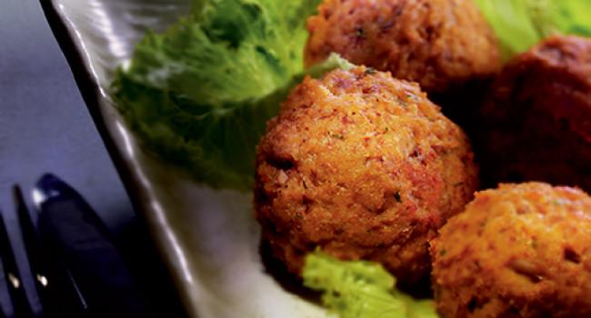 Arancini balls with porcini mushrooms
