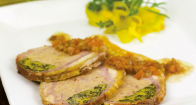 Roasted veal with nettles