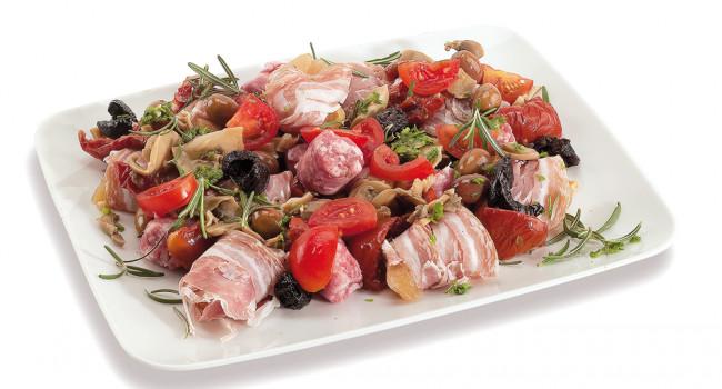 Bocconcini aus Huhn mit Speck umwickelt