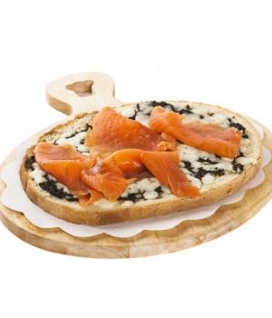 Bruschetta ortica e salmone
