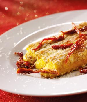 Cannelloni with artichokes and pistacchio
