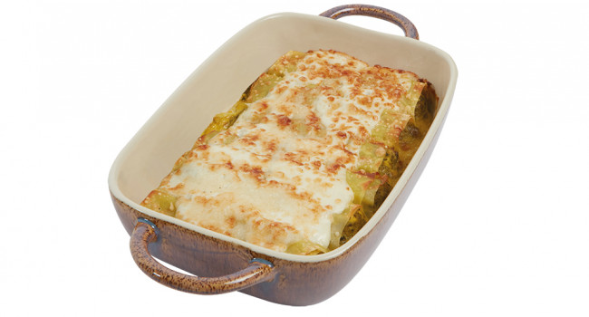 Cannelloni with turnip tops and turkey