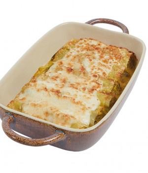 Cannelloni with spinach and capocollo