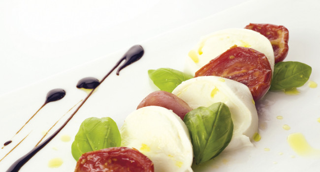 Caprese with Maezzoro Tomatoes
