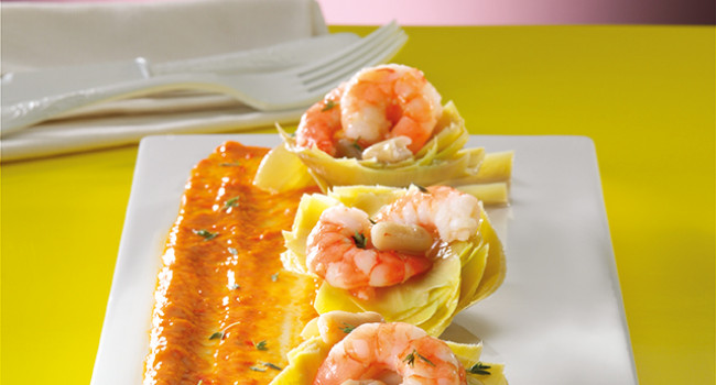 Artichockes with Prawn Salad