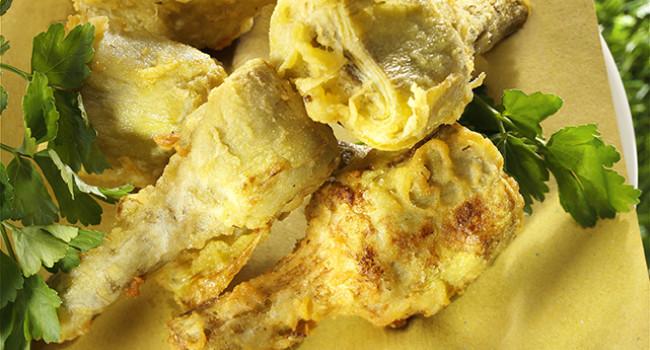 Carciofi ripieni in tempura