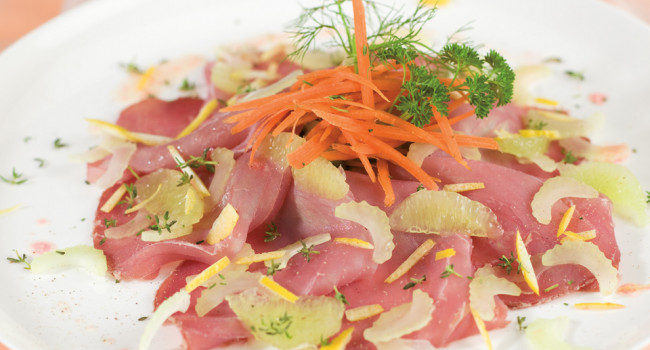 Exotic Tuna Carpaccio