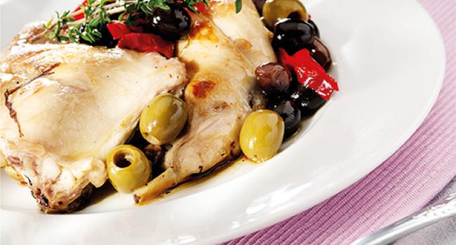 Coniglio alle olive piccantine