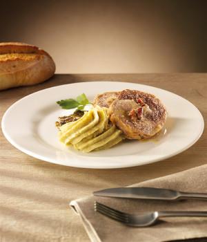 Auf der Titelseite  Gefülltes Schweinefilet mit Rosmarin-Kartoffelpüree