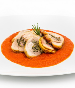 Stuffed chicken thighs with Pomodorina