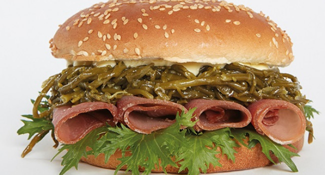 Hamburger carpaccio di tonno e salicornia