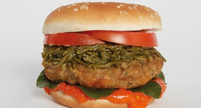 Hamburger di pollo e salicornia