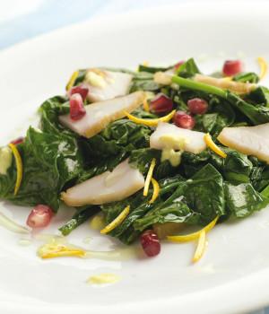 Insalata di spinaci e marlin