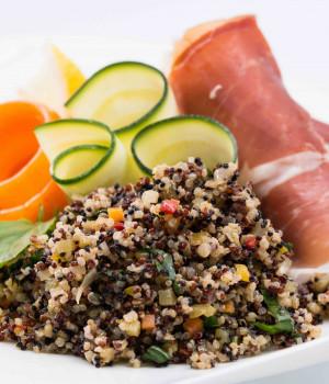Prosciutto Roll with Quinoa Salad