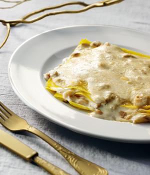 Lasagne with porcini and pecorino