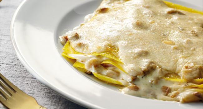 Lasagne ai porcini e pecorino