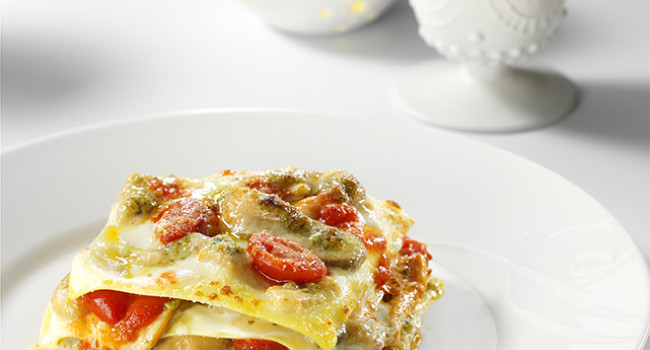 Lasagne with Porcini and Genovese Pesto