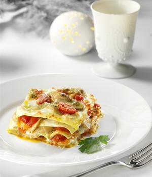 Lasagnette mit Steinpilzen und Pesto alla Genovese