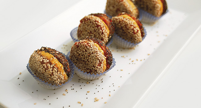 Macarons con calabaza