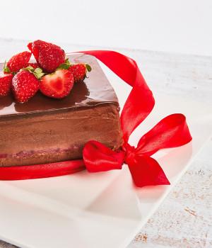Mattonella al cioccolato e fragole