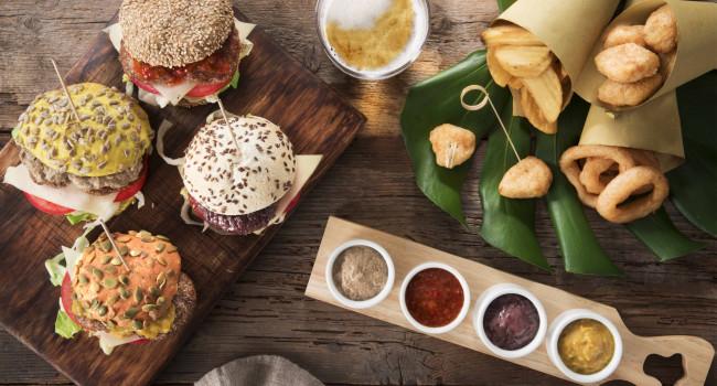 Assorted mini hamburgers