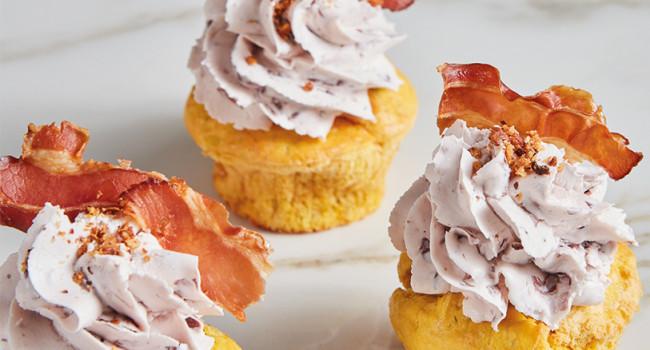 Muffins de calabacín y calabaza