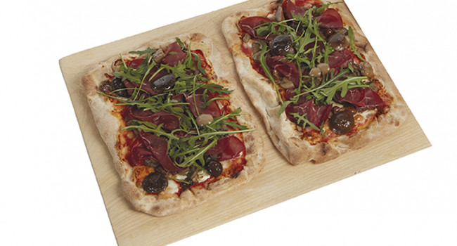 Pizza P.A.L.A. con èfungomix y bresaola
