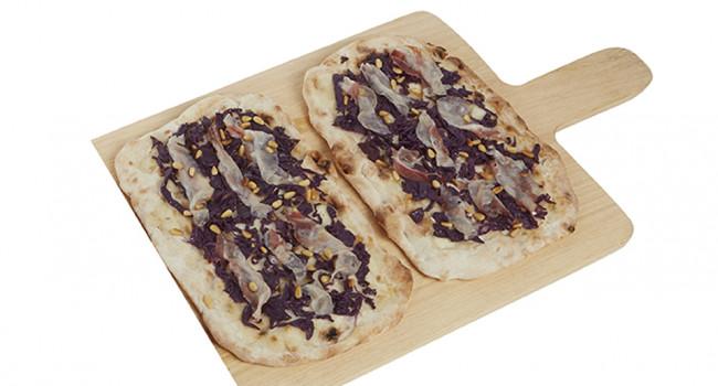 Pala con cavolo viola e pancetta