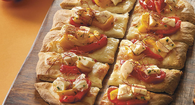 GLUTEN-FREE PIZZA P.A.L.A. WITH PEPPERS AND CUTTLEFISH