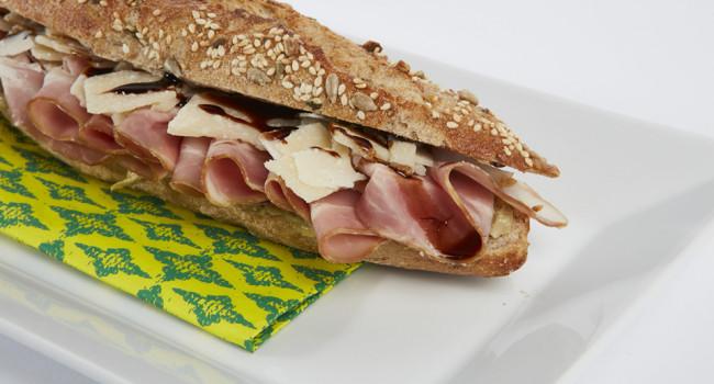 Bacon, Parmesan and Gransalsa Artichoke heart panino