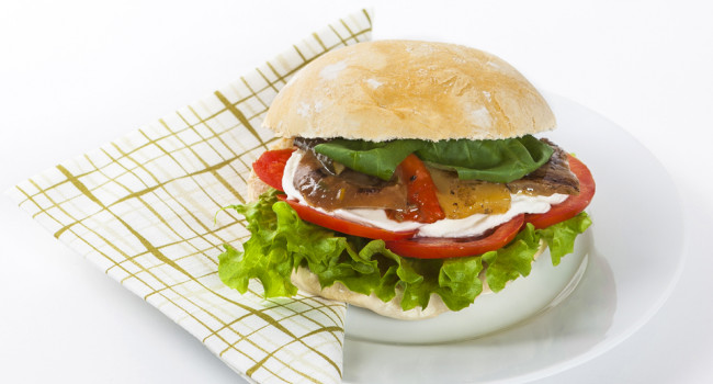 Grilled Mixed Vegetable panino
