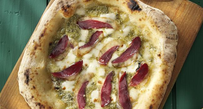 PIZZA CANAPA  E PETTO D'OCA