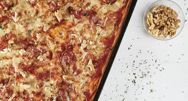 PIZZA PANCETTA IN TEGLIA
