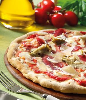 Pizza petto d'oca e carciofi