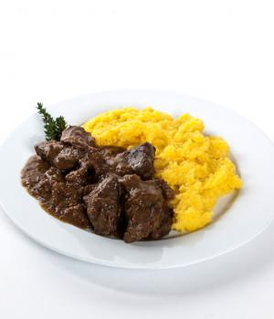 Polenta with stew