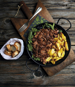 Pulled Pork con patate arrosto
