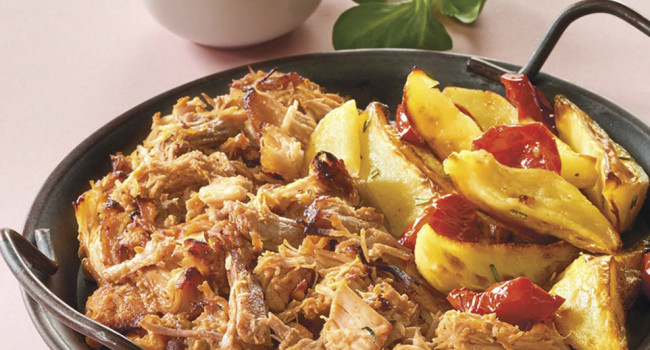 PULLED TURKEY CON PATATE