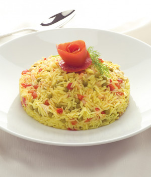 Basmati rice with saffron