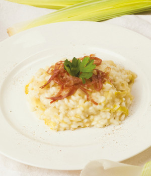 Risotto with leeks