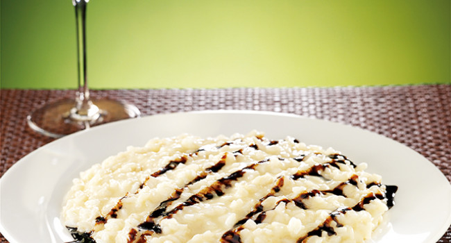 Risotto with parmigiano reggiano cheese and balsamic