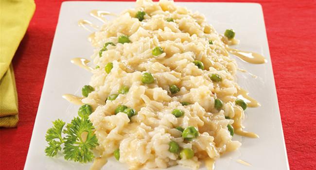 Risotto con fonduta di cipolla e formaggio di fossa