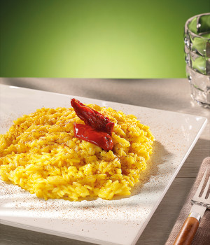 RICE WITH SAFFRON, SOLEGGIATI AND LIQUORICE