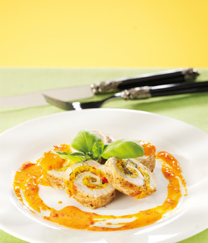 Rolle' di verdure in salsa