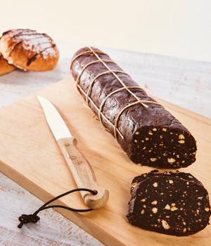 Salame al cioccolato con ganache