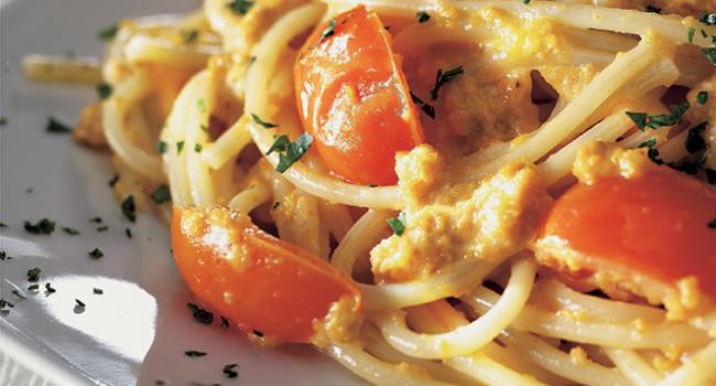 Spaghetti alla polpa di riccio