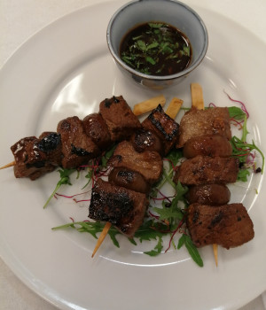 Beef and Cipolline Satay