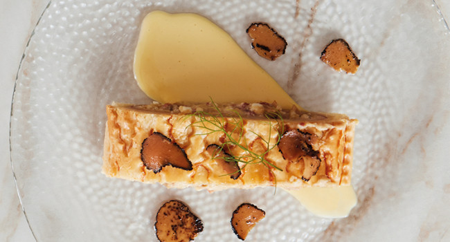 Strudel with porcini mushrooms and truffle