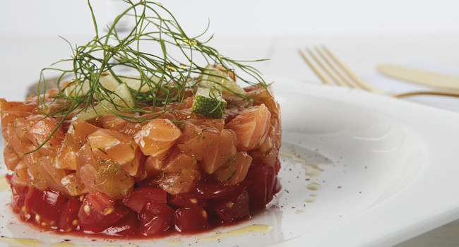 Salmon Tartare with dill